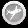 flight icon round