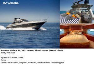Predator 61 Yacht for Rent Ibiza Marina 300x205 1