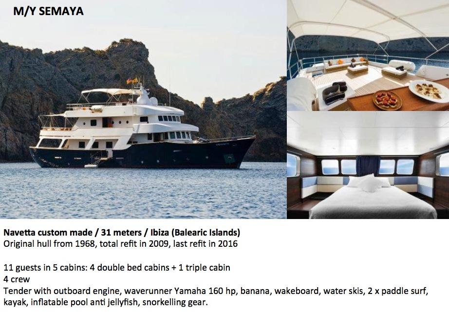 Semaya Yacht Ibiza